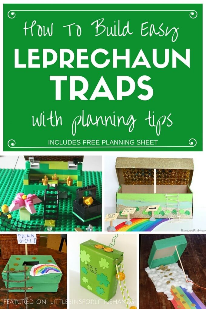 St Patricks Day Kids Leprechaun Trap Ideas