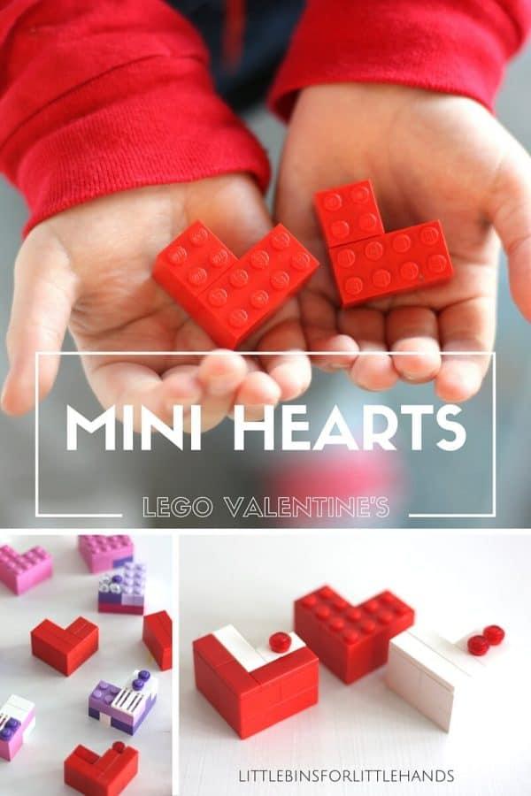Valentines Day Mini LEGO Hearts