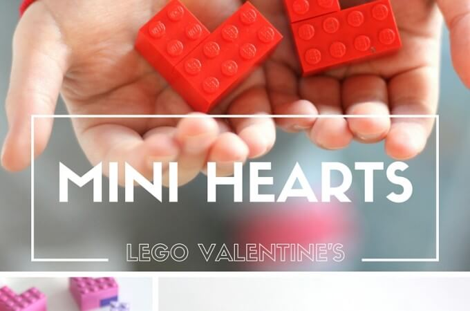 Mini LEGO Hearts for Valentine's Day