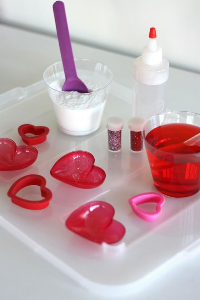 Valentines Day Potion MIxing Science Tray Bakign Soda Science Activity