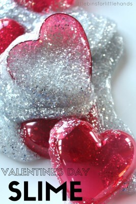 Valentines Day Slime Activity Science