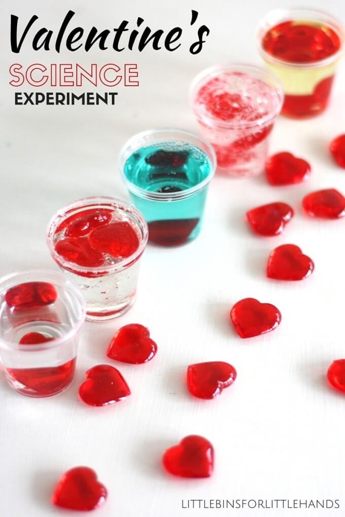 Valentines Day Viscosity Experiment for Kids