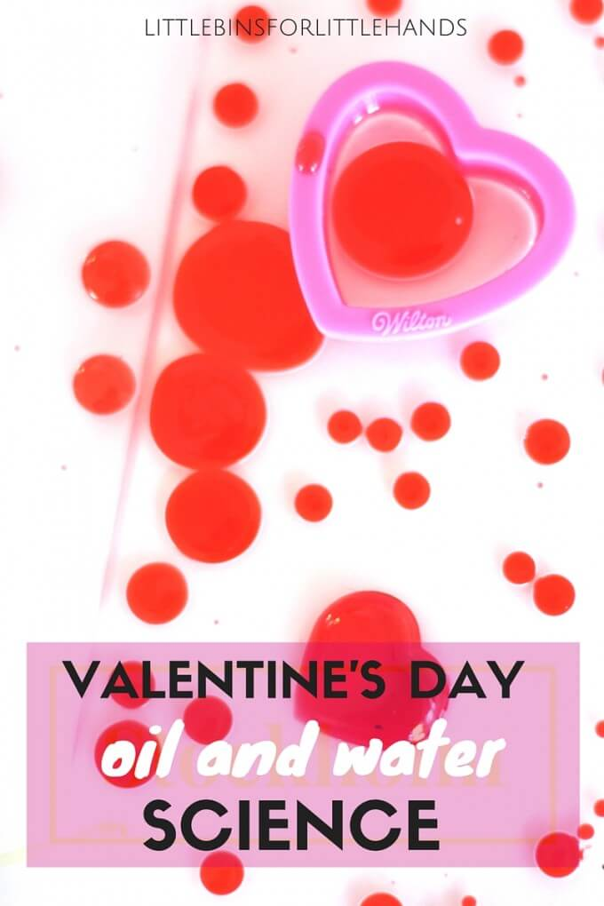 Valentine Easy Worksheets : Valentines oil and water science density experiment