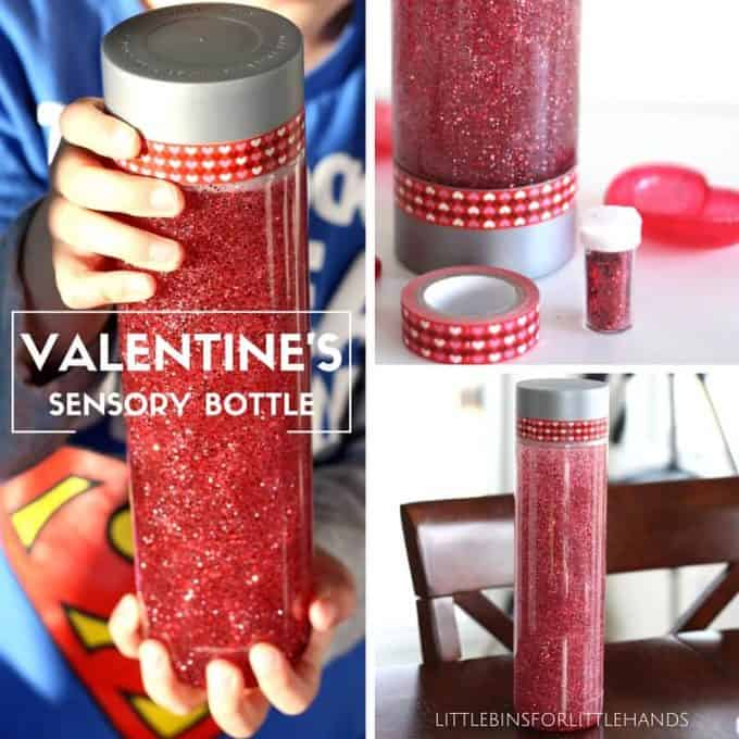 Valentines Sensory Bottle Glitter Glue Calm Down Jar