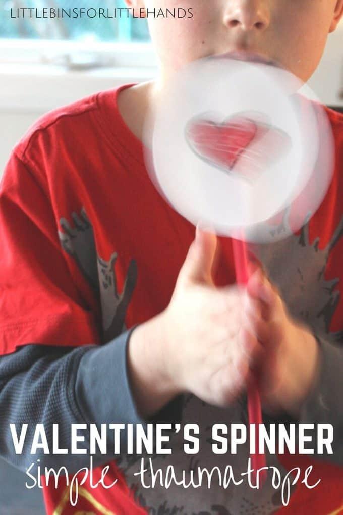 Valentines thaumatropes Spinner Toy Simple Thaumatrope STEAM Activity