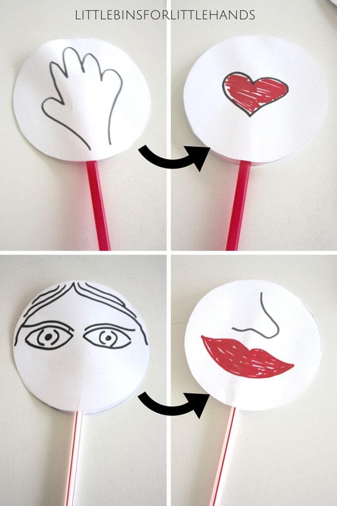 Valentines Thaumatropes ideas
