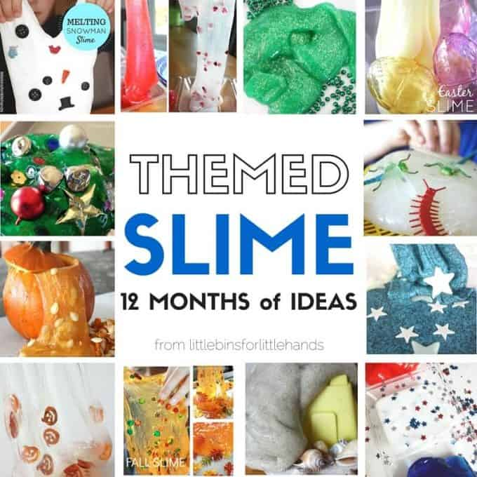 Year Themed Slime Activities Holiday Slime Ideas for Seasonal Science and Sensory Play