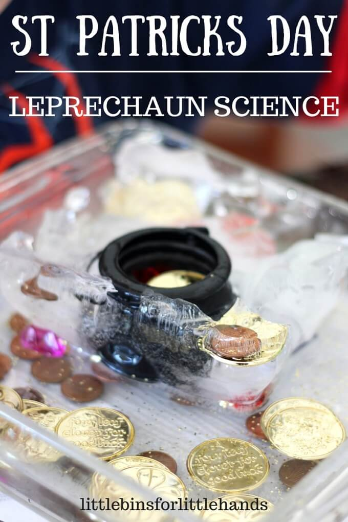 St Patricks Day Ice Melt Science Activity and Coin Hunt