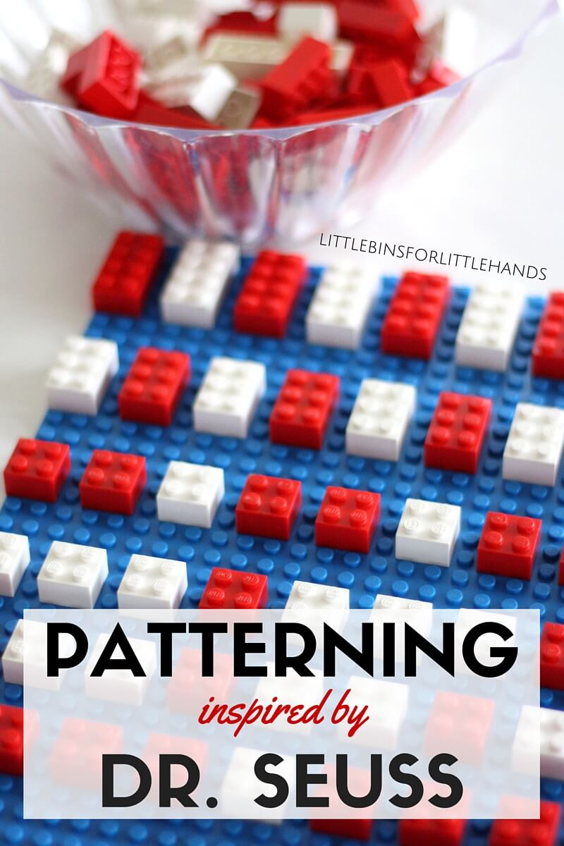 LEGO Dr Seuss Patterning Math Activity for Kids