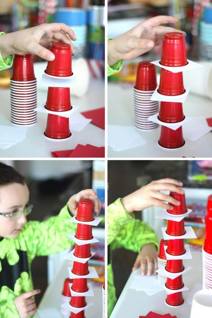 Dr Seuss STEM Challenge Stacking Cup Tower Cat in The Hat