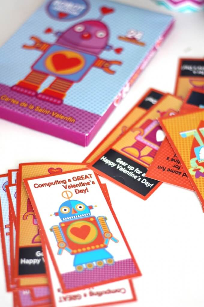 Valentines Day Memory Game Robot Matching Activity