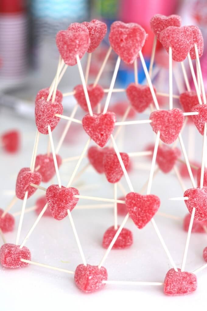 Valentines Day STEM candy structures