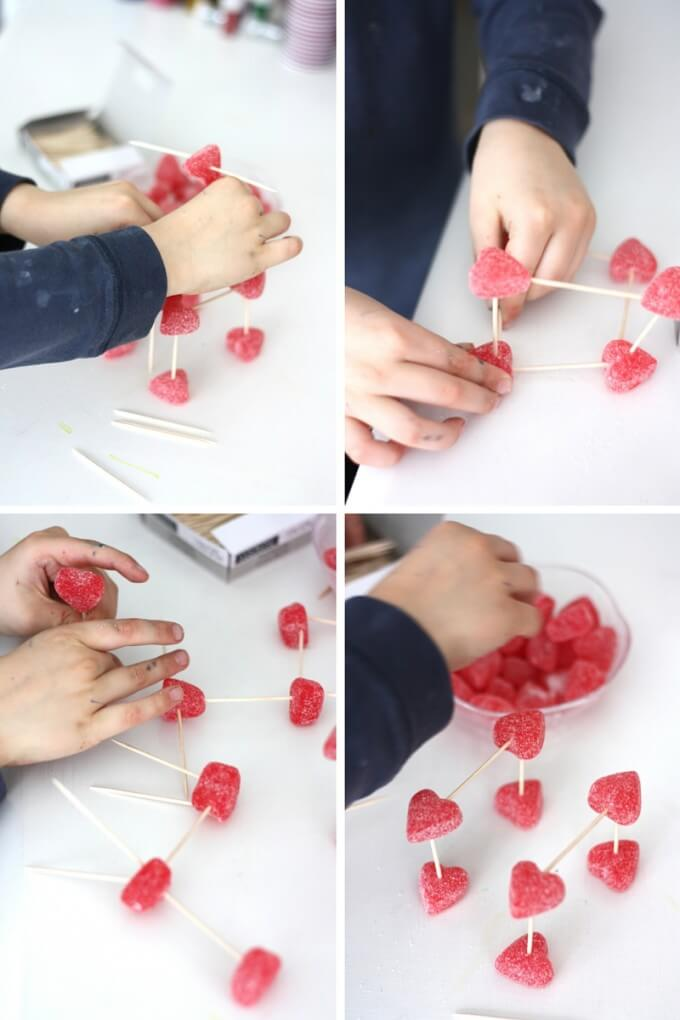 Valentines Day Candy Sculptures STEM and Fine Motor Activity