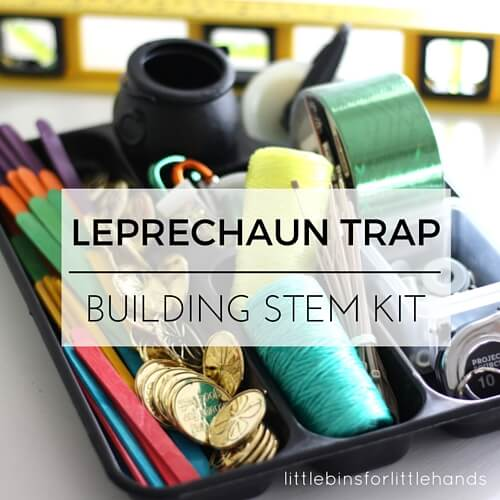 leprechaun trap kit or tinker tray for building leprechaun traps
