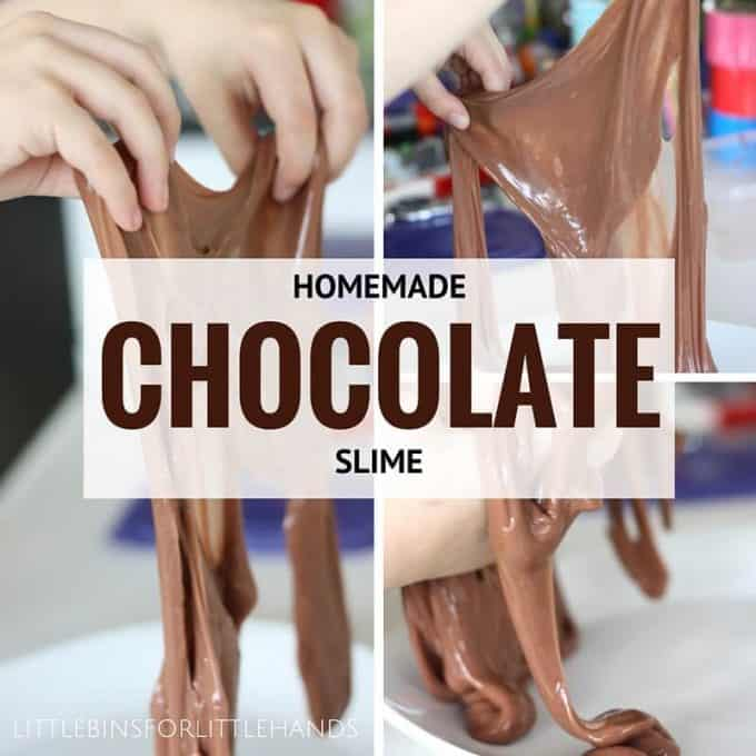 Chocolate slime recipe for kids easy to make slime