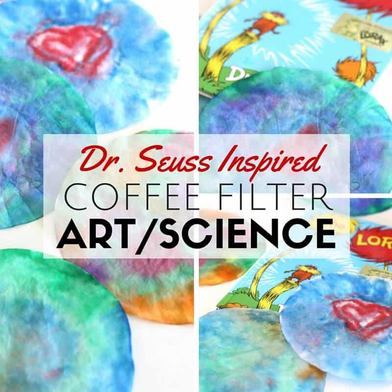 Tie Dyed Coffee Filter Art Dr Seuss Lorax Activity