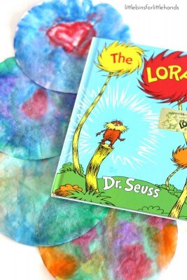 Earth Day Coffee Filter Art Activity Inspired by Dr. Seuss and The Lorax