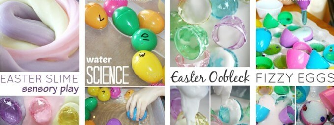 Easter STEM Activities Slime, Oobleck, Sink Float, and Baking Soda Science