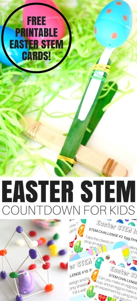 We have the best EASTER STEM ACTIVITIES COUNTDOWN for junior scientists!Join us for the Easter STEM countdown challenge and play along with great STEM ideas. Simple themes give everyday science and STEM a whole new feel. Make sure to download the FREE printable challenge cards below too