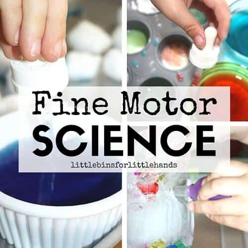 Fine Motor Science Activities to Practice Skills
