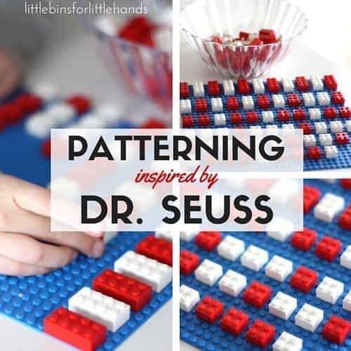 LEGO Dr Seuss Patterning Math Activity for Cat In The Hat