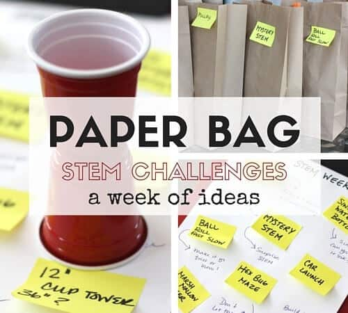 Paper Bag STEM Challenges Week for Screen Free Fun with Kids!
