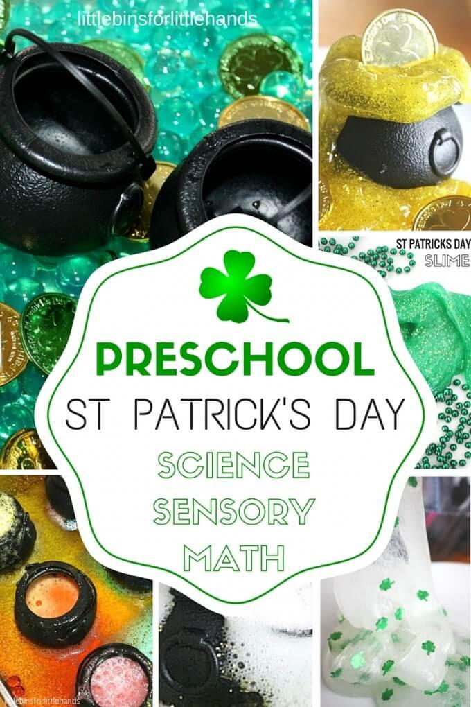 Preschool St Patricks Day Activities Science, Sensory, STEM