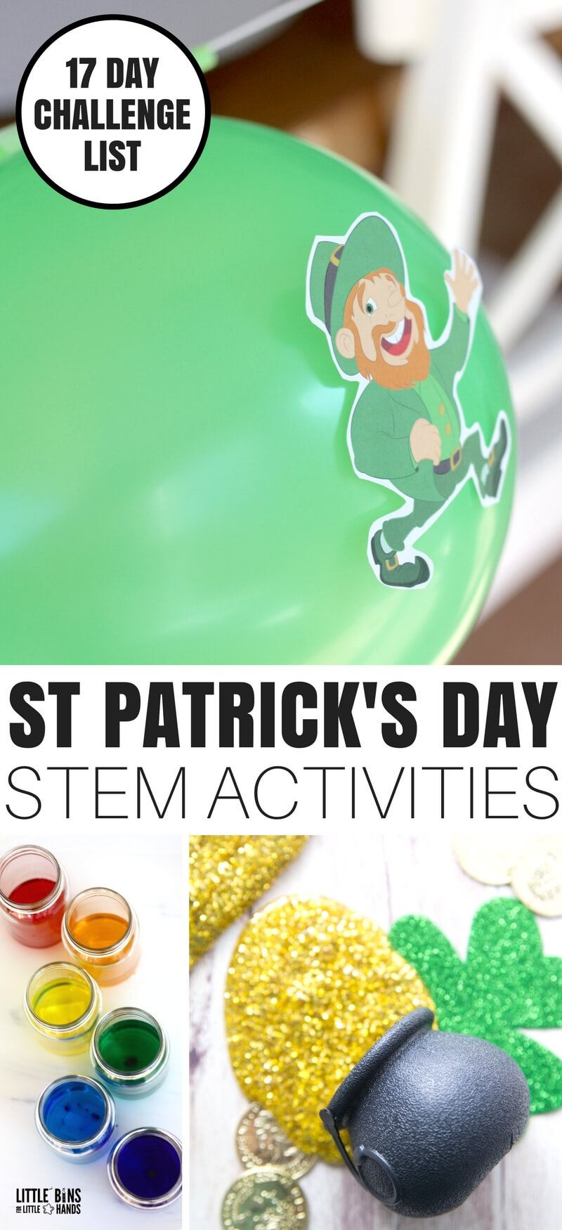 St Patrick's Day activities for STEM and Science learning.