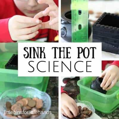 St Patricks Day Sink Float Science Experiment with Pennies