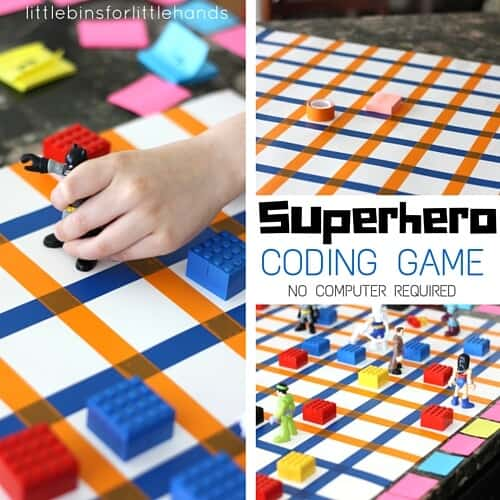 Superhero coding game for kids STEM