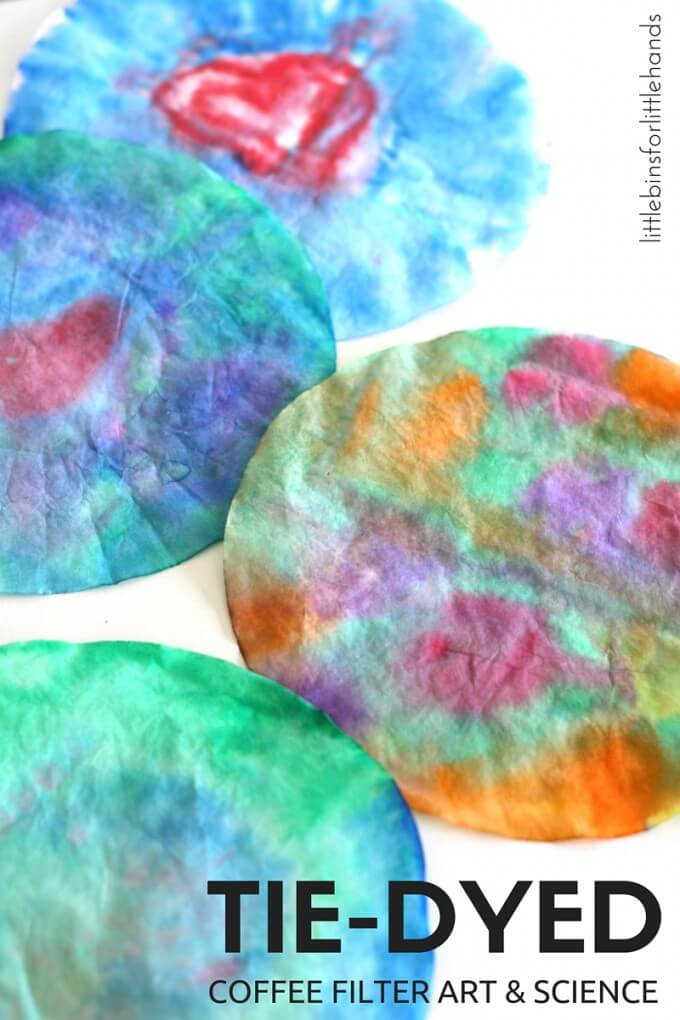 Tie Dyed Coffee Filter Activity for Art and Science