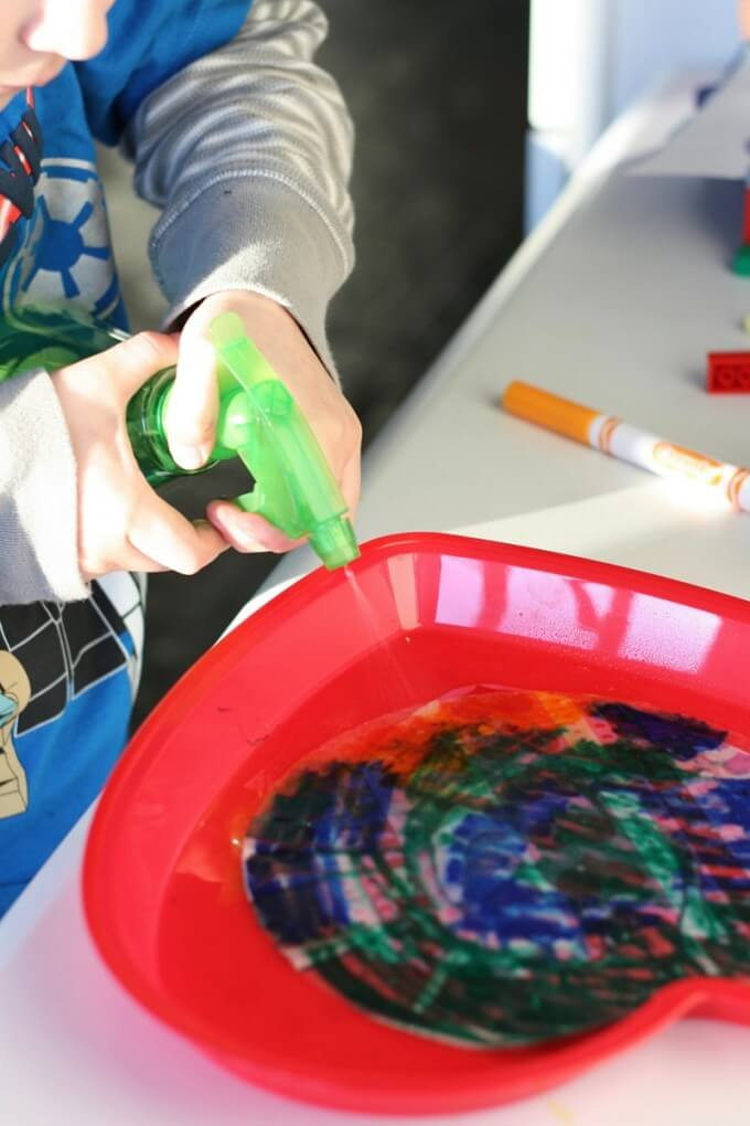 Tie Dyed Coffee Filter Activity for Kids