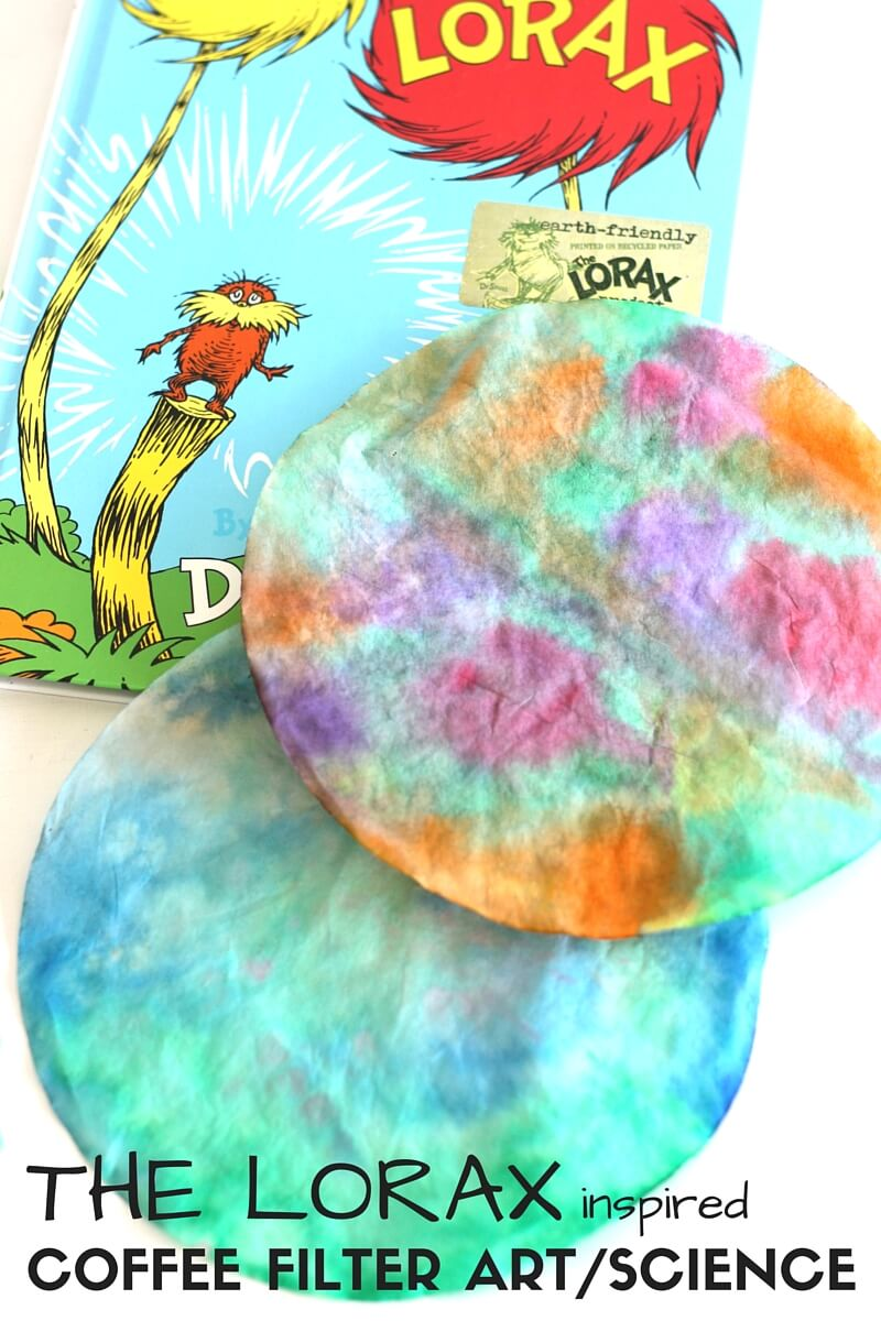 Seuss science activity and lorax science with ti die coffee filter solubility activity