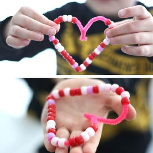 Valentines Coding STEM Activity Beaded Hearts Binary Alphabet