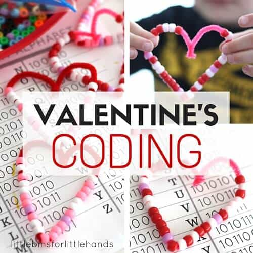 Valentines Coding STEM Activity with Binary Alphabet