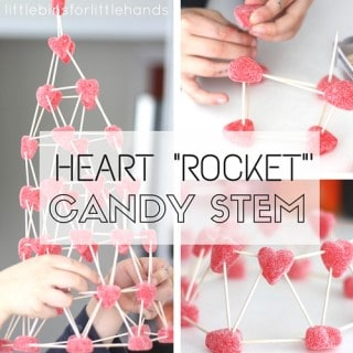 Valentines Day Candy Structures STEM challenge