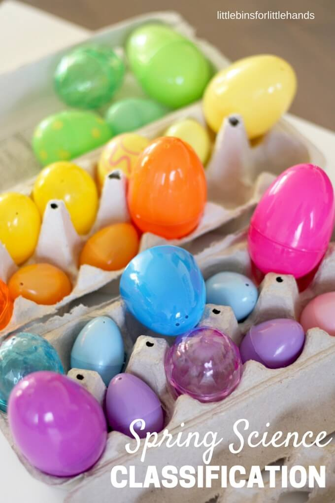 Spring Classification Sorting Easter Activity STEM for kids
