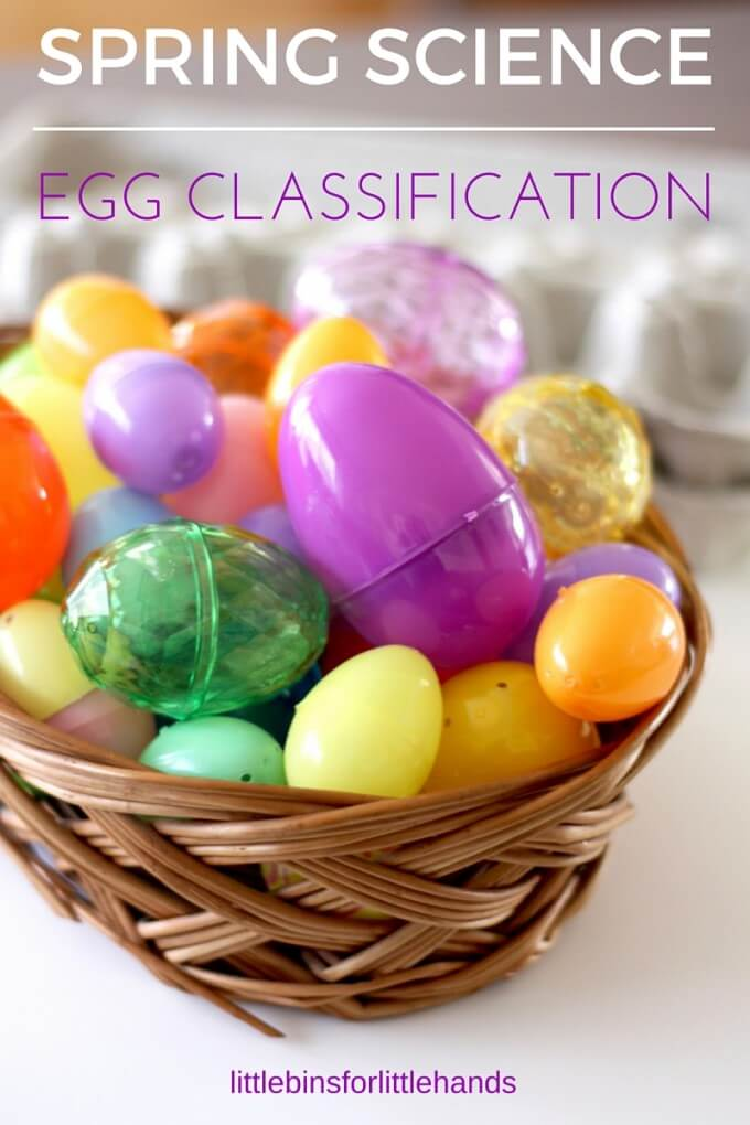 Spring classification science activity and Easter Science Activity with Plastic Eggs