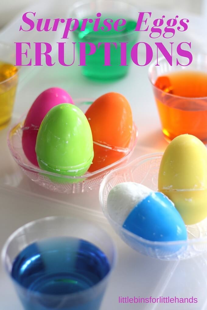 Surprise Eggs Eruptions Easter Science and STEM