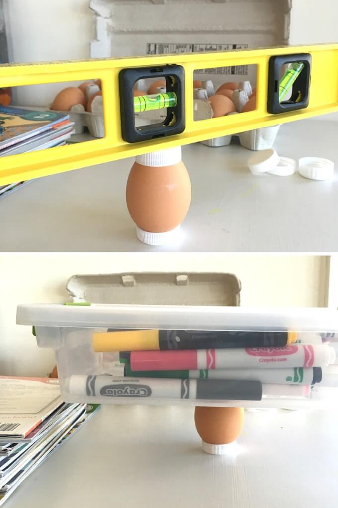 Playing Around with Eggs for Easter STEM