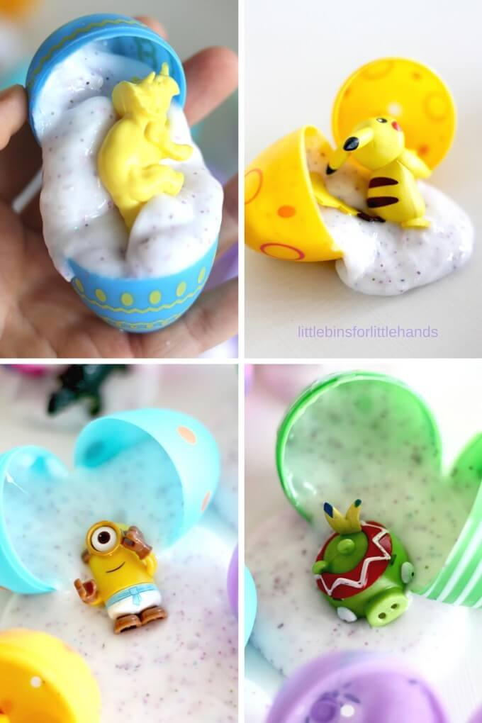 Easter Slime Surprise Eggs with Pokemon, Minions, Angry Birds and LEGO