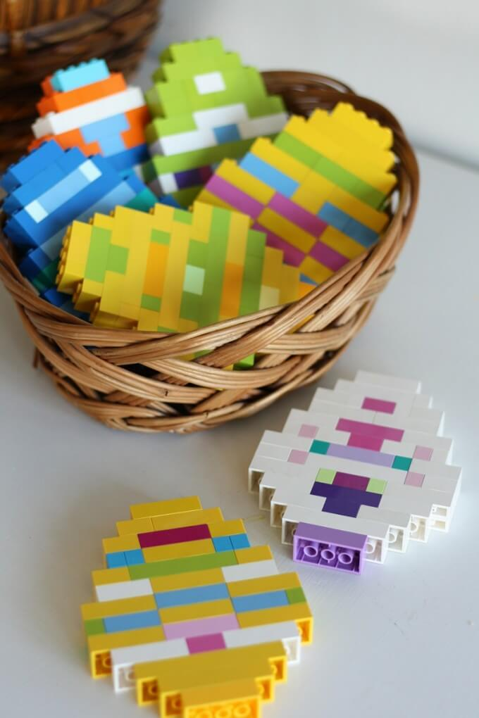 LEGO Easter Eggs building idea for Easter Activity