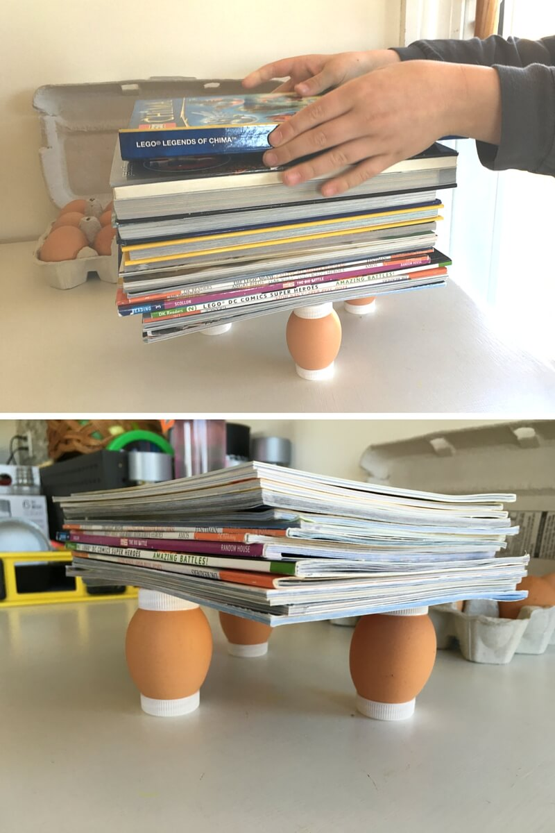 eggshell experiment • a few eggs • the reaction of the eggshell and the vinegar is an acid-base reaction you can experiment by putting them in different solutions.