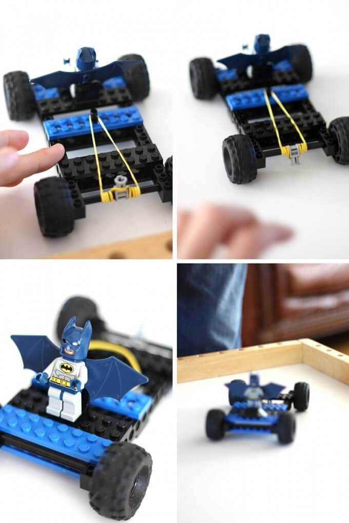 LEGO rubber band car