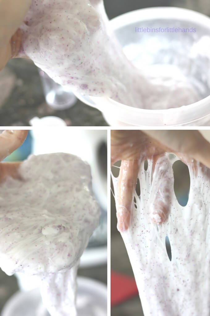 Homemade liquid starch slime recipe