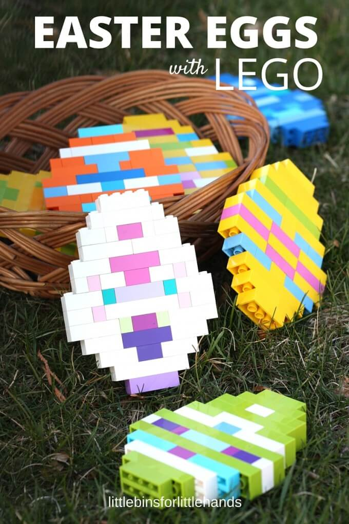 LEGO Easter Eggs With Basic Brick Building Idea for Kids STEM