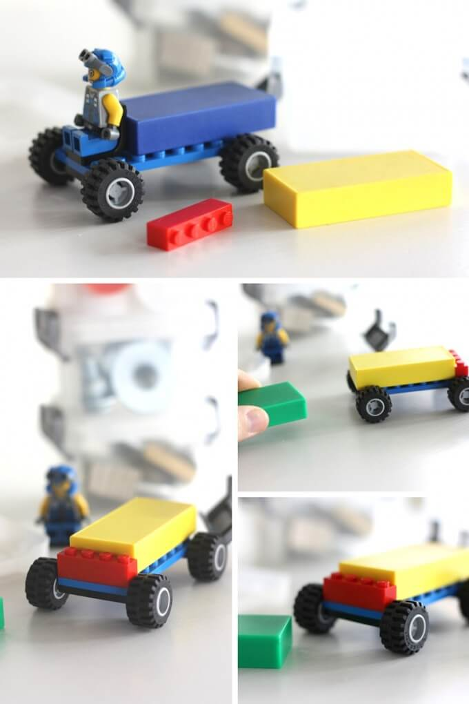 Magnet powered car busy box