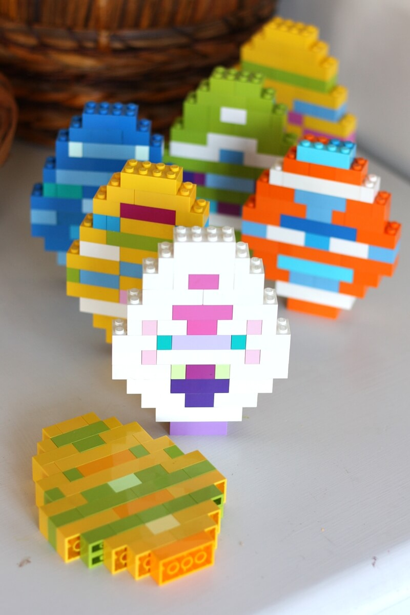 Lego Easter Eggs And Basic Brick Building Idea For Kids