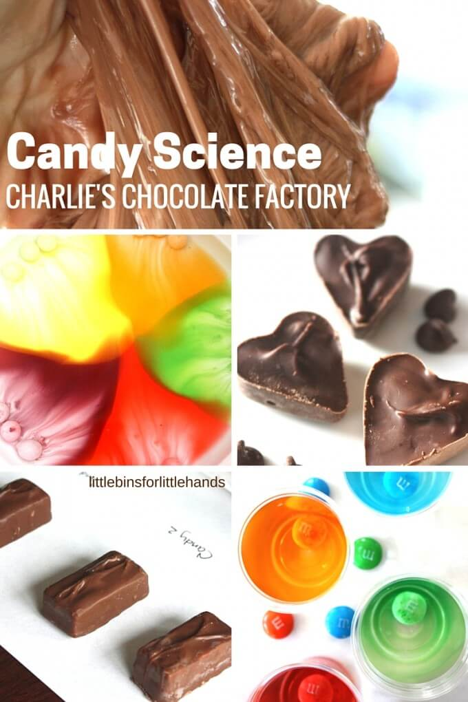 kitchen science with chocolate candy