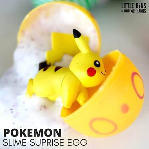 Pokemon surprise egg with slime and pikachu